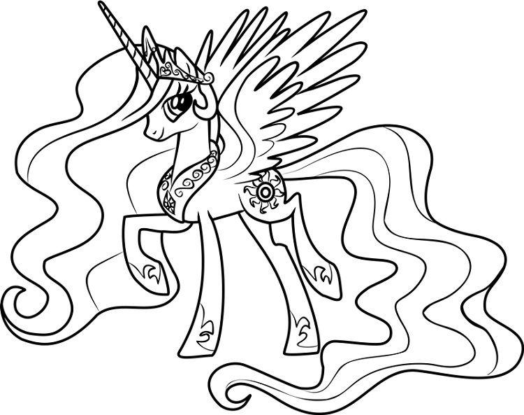 princess celestia coloring pages coloriage princesse
