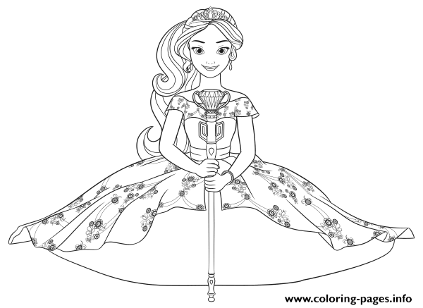 princess elena disney princess coloring pages printable