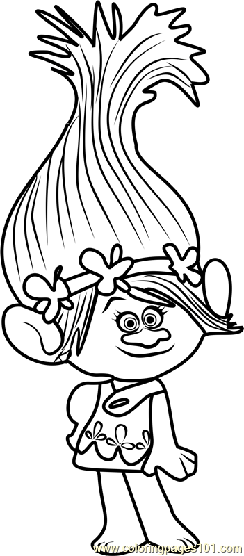 princess poppy from trolls coloring page poppy coloring