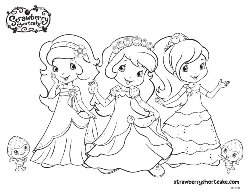 princess strawberry shortcake coloring pages at getdrawings
