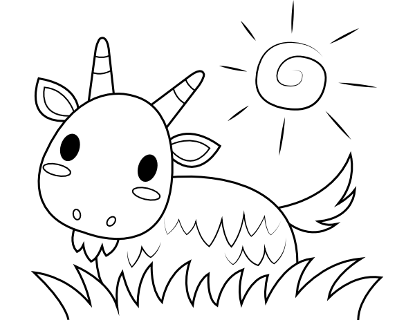 printable ba goat coloring page