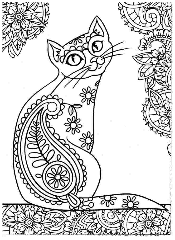 printable cat coloring pages for adults cat coloring pages