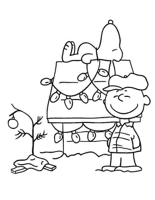 printable charlie brown christmas coloring pages free