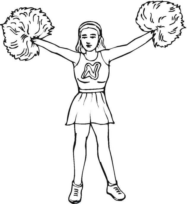 printable cheerleading coloring pages coloringme