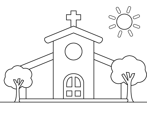 printable church coloring page