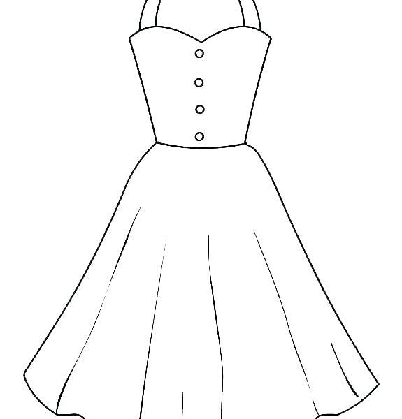 printable coloring dresses interesantecosmetice