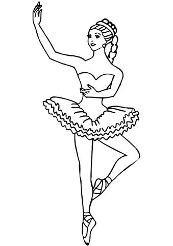 printable coloring page ballerina pusat hobi