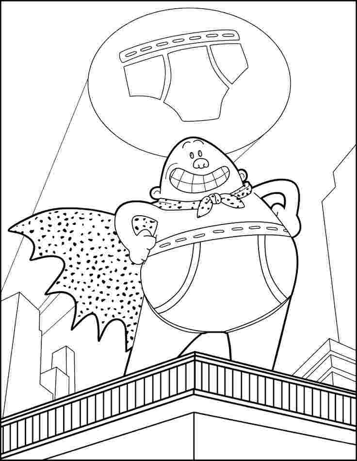 printable coloring pages captain underpants captain