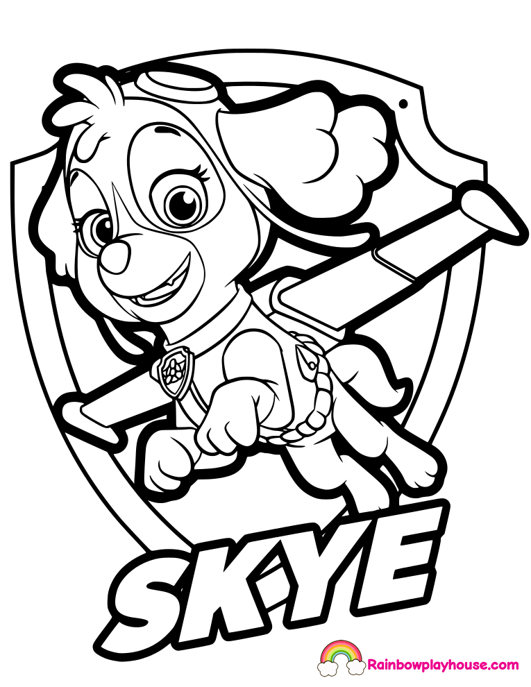 printable coloring pages paw patrol pusat hobi