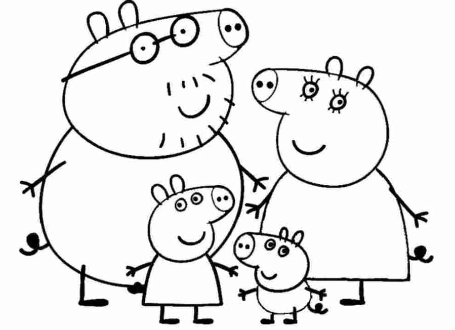 printable coloring pages peppa printable coloring pages