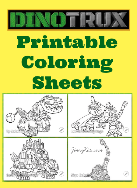 printable dinotrux coloring pages jinxy kids
