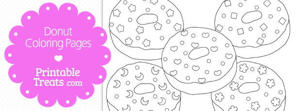 printable donut coloring pages printable treats