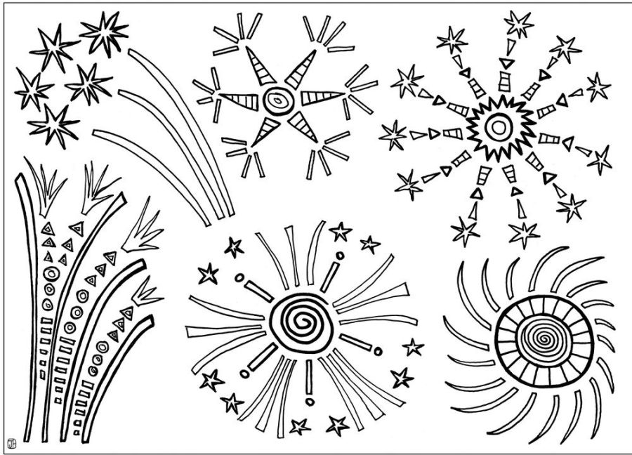 printable fireworks coloring sheet firework colors free