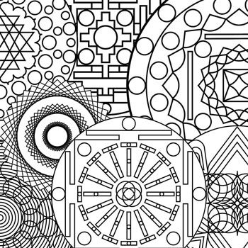 printable geometric patterns fun relaxing color therapy