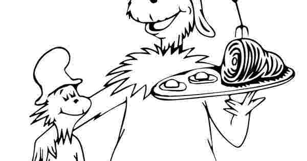 printable green eggs and ham coloring pages dr seuss green