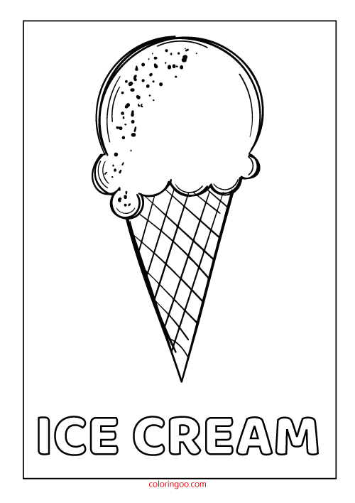 Ice Cream Coloring Pages Picture Whitesbelfast