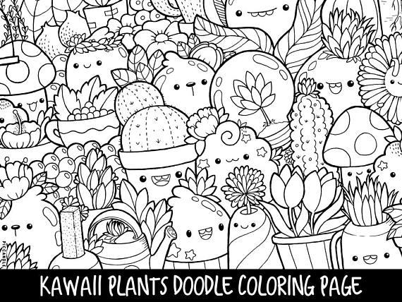printable kawaii coloring pages