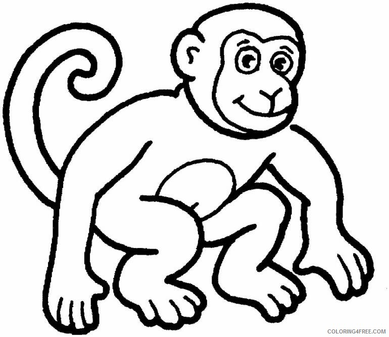 printable monkey coloring pages coloring4free
