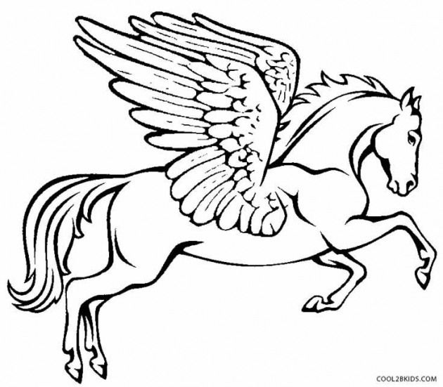 printable pegasus coloring pages for kids cool2bkids