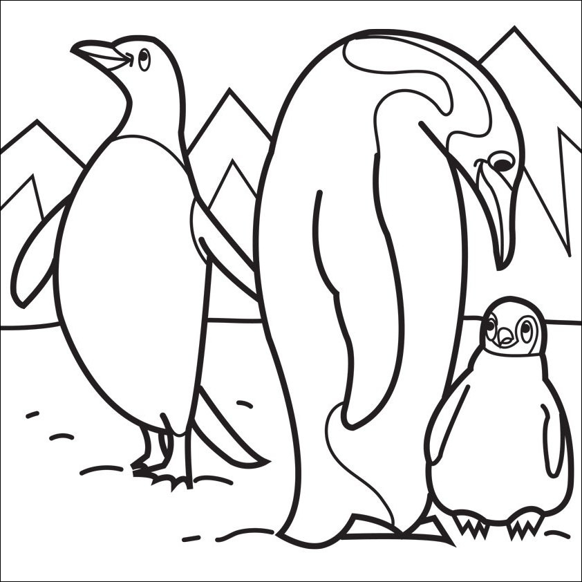 printable penguin coloring page awesome photos penguins