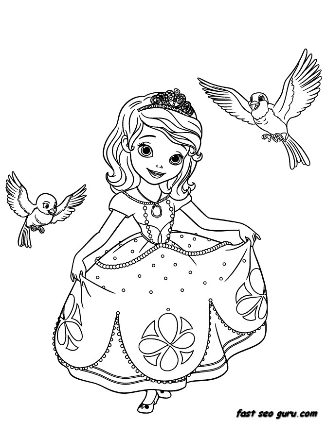 printable princess coloring pages for girls