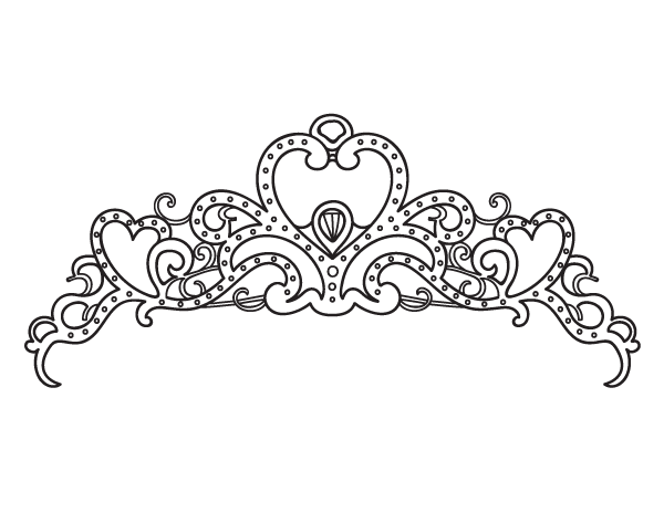 printable princess crown coloring page