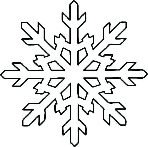 printable snowflake coloring pages colouring page