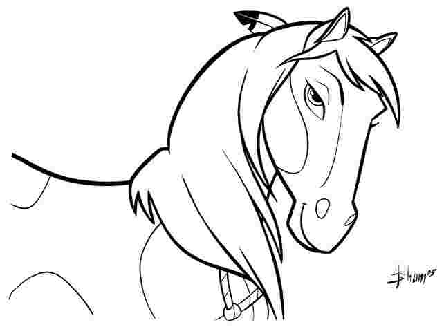 printable spirit horse coloring pages huangfei