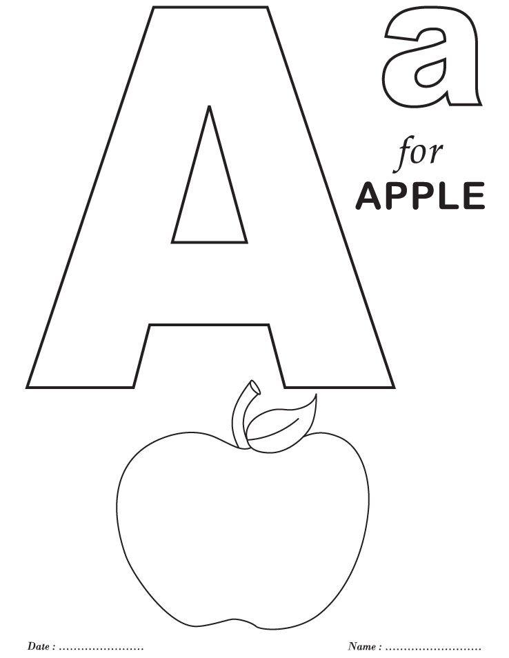 printables alphabet a coloring sheets preschool coloring