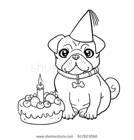 pug puppy coloring pages