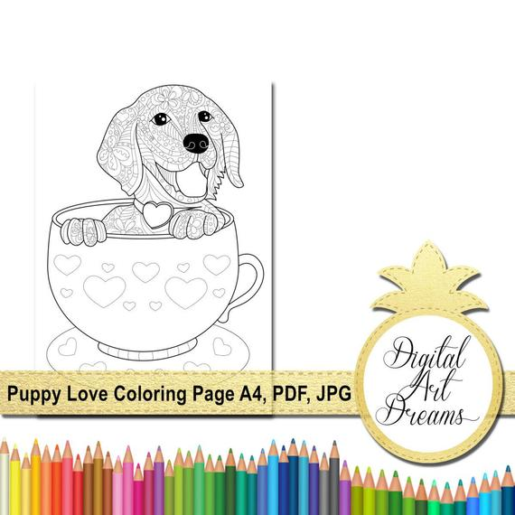 puppy coloring page a4 golden retriever printable page to color coloring pages for adults pdf dog coloring image outlines digital art