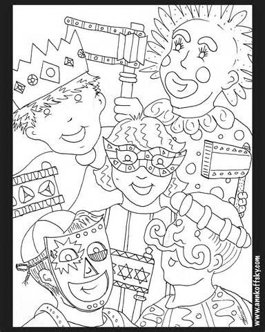 purim coloring pages for kids coloringpages321