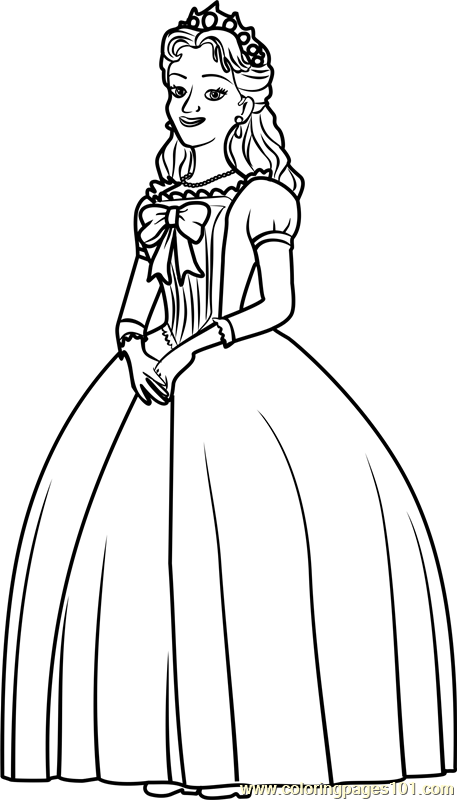 queen miranda coloring page free sofia the first coloring