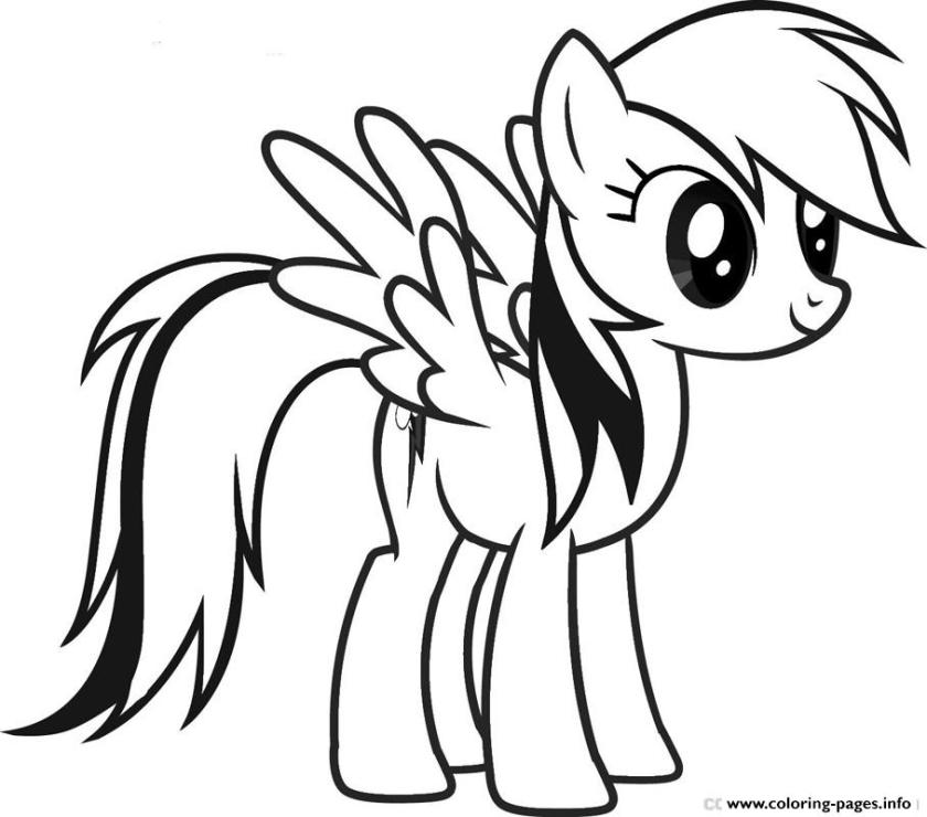 rainbow dash coloring pages pdf