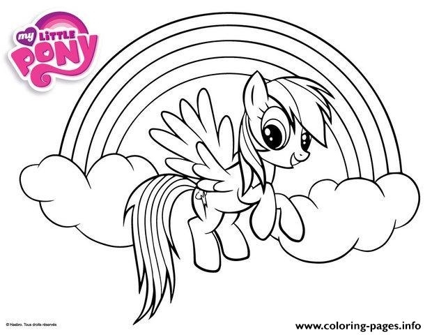 rainbow dash little pony coloring pages printable free