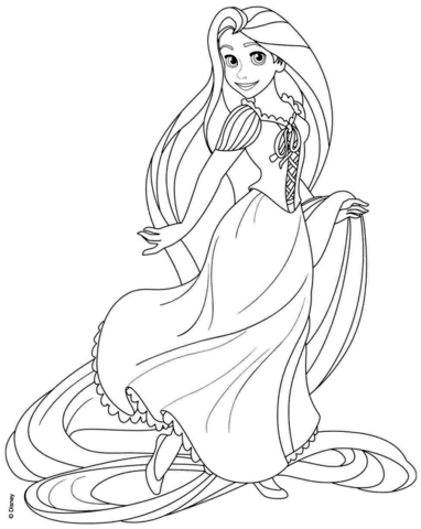 rapunzel from disney tangled omalovnka free printable