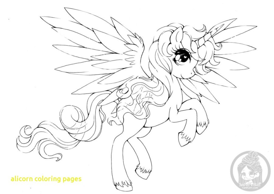 realistic alicorn coloring pages