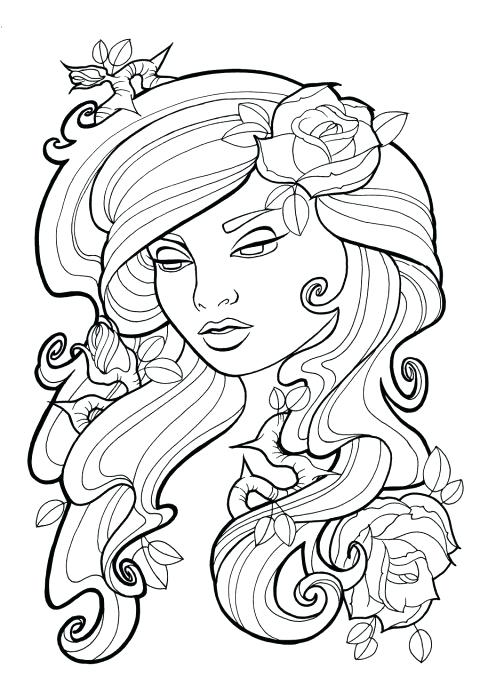 recolor coloring pages hair