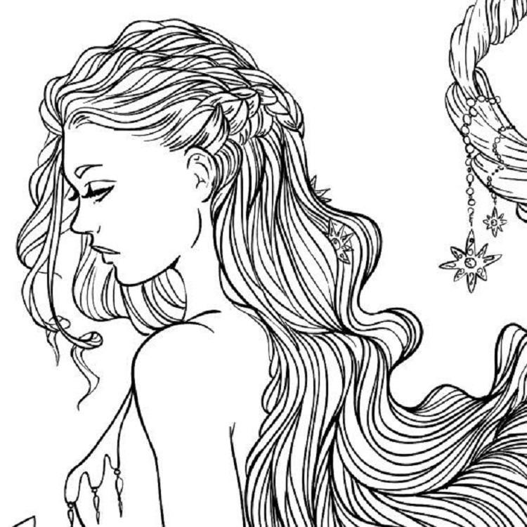 recolor hair coloring pages fun for kids