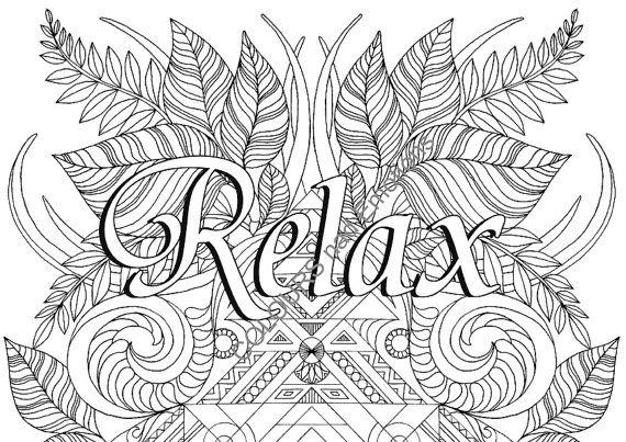 relax coloring page adult coloring page