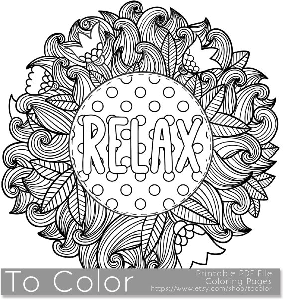 Relaxing Coloring Pages Picture - Whitesbelfast.com