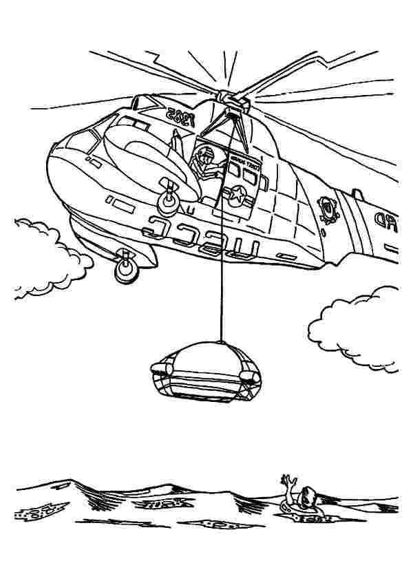 rescue helicopter coloring pages drawn helicopter rescue