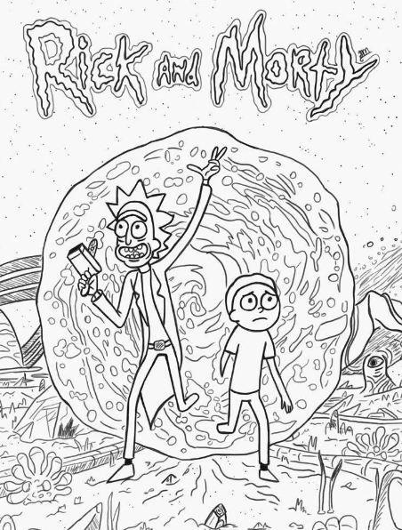 rick and morty coloring page rick and morty drawing rick