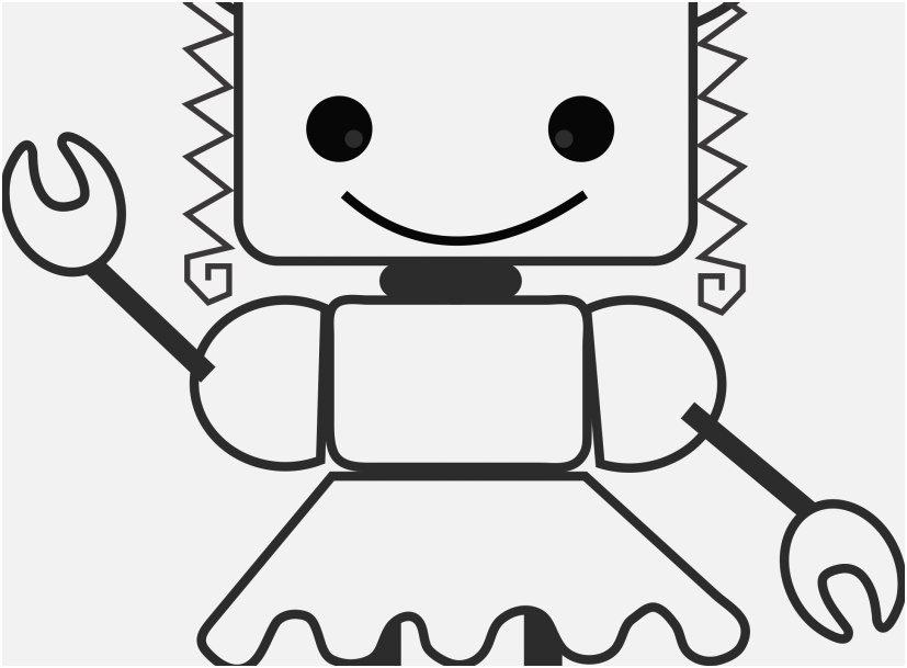 robot coloring pages printable view robot girl 1 coloring