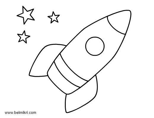 rocket coloring page for preschool 365 days of healthy