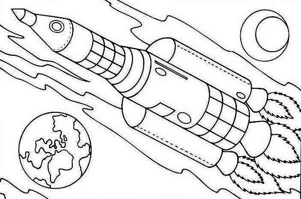 rocket coloring pages pdf