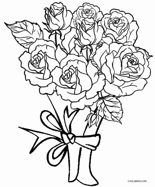 roses coloring books best of printable rose coloring pages
