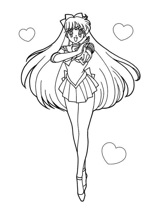 sailor moon anime soldier of love and justice coloring page