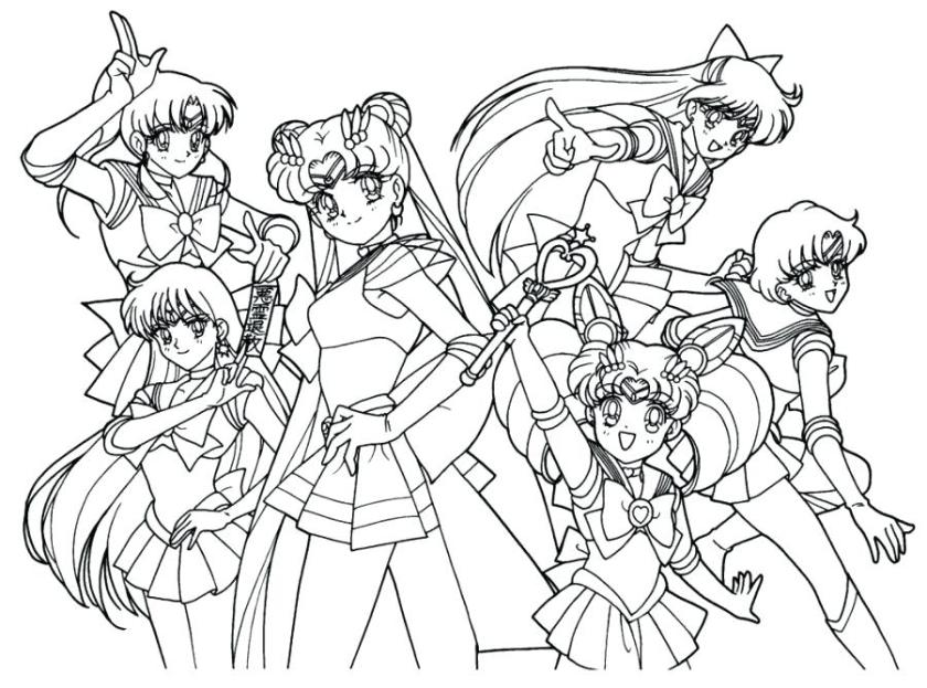 sailor moon coloring book superfresco