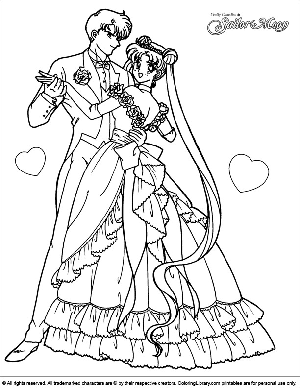 sailor moon coloring page for kids coloring library